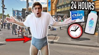 I SPENT 24 HOURS STRAIGHT IN A DIAPER - CHALLENGE