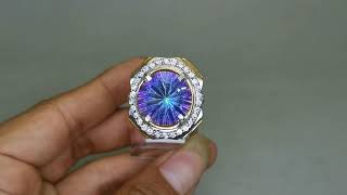 Cincin Kinyang Pelangi Mistiq quartz Asli KD 2112