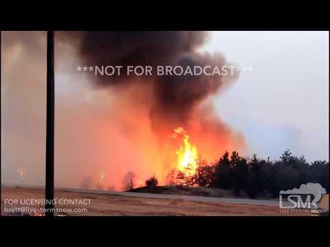04-17-18 Seiling, OK - Wildfire
