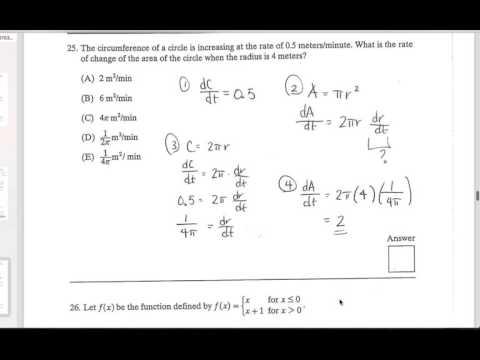 AP Calculus AB: Multiple Choice Walkthrough - Sample Exam 1