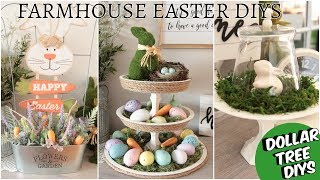 DOLLAR TREE FARMHOUSE DIY EASTER DECOR 2019