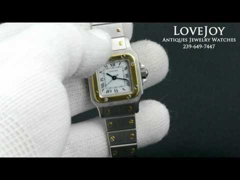 Ladies Cartier Santos 18k/SS Automatic Watch Authentic