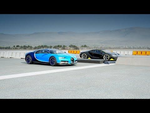 2018 Bugatti CHIRON Vs Lamborghini CENTENARIO Drag Race! Forza 7