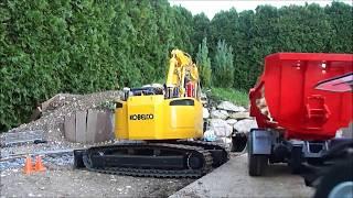 kobelco SK207SR 1:15 Level crossing build