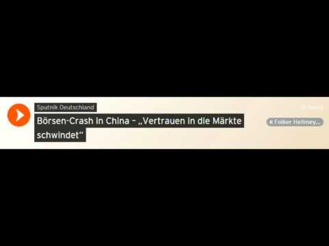 Börsen-Crash in China - Chefanalyst Bremer Landesbank, Folker Hellmeyer