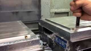 CNC Vertical Mill - One way to clamp flat, thin, large part by using fixture clamps