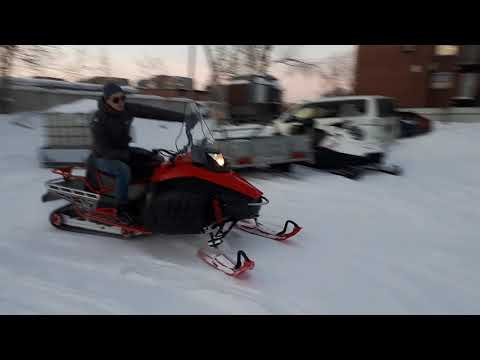 Тест снегохода Тунгус 500 в Томске в Мото-тех. IRBIS TUNGUS 500L 2019. Снег глубокий. Гусянка 50см