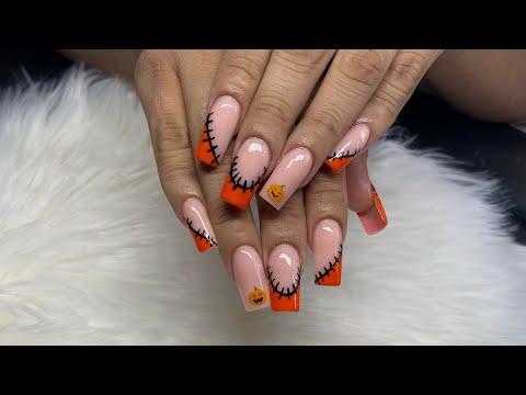 PUMPKIN Halloween nail design TIKTOK