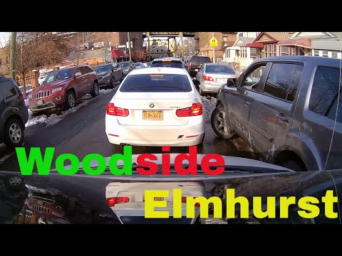 Driving Downtown - Woodside to Elmhurst - Queens - New York - USA