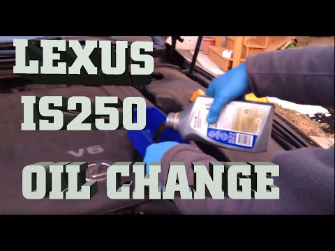 2011 Lexus Es 350 >> How to change Engine Oil in Lexus IS250 AWD 2006-2011 Oil Change with Mobile 1 Synthetic Oil ...
