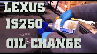 how to change engine oil in lexus is250 awd 2006 2011 oil change with mobile 1 synthetic oil