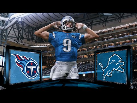 Madden NFL 17 Detroit Lions Franchise- Year 1 Game 2 vs Tennessee Titans