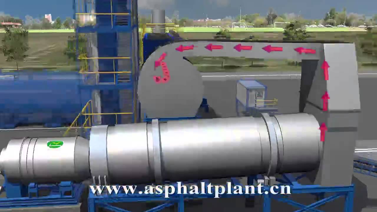 3d Animation Of Mobile Asphalt Mixing Plant At Work Youtube Astec Wiring Diagram