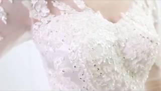 Купить атласное свадебное платье с кружевами Винтаж  Платье es 2018 Vestidos