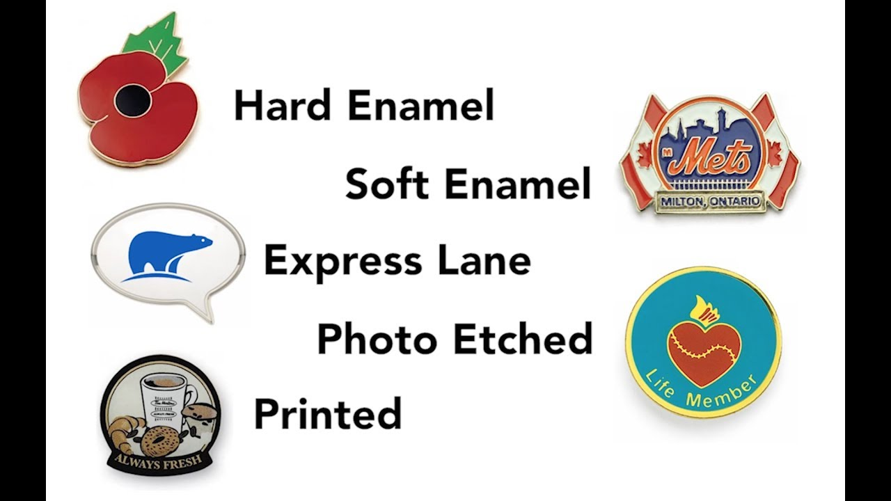 Custom Lapel Pins Toronto | Hard and Soft Enamel Pins in Canada