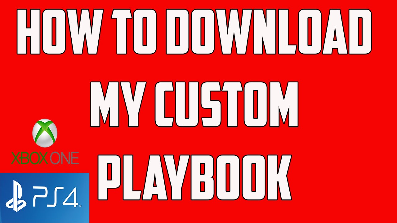 Madden 17 How To Download My Custom Playbooks Xbox One Ps4 Youtube