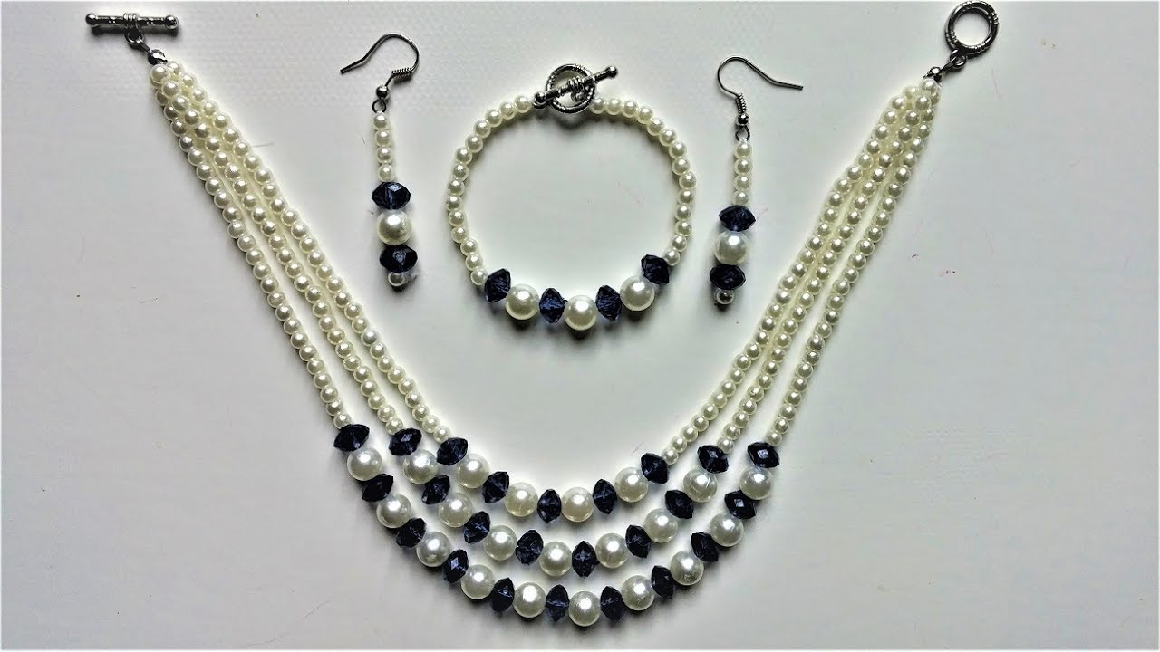 String beads and make a beautiful jewelry set in less than 15 mins ...