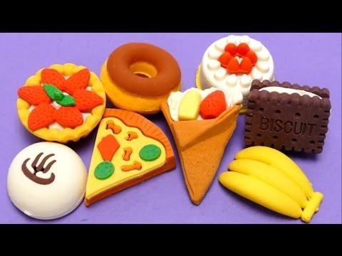 Eraser / Rubber - Food Kit for School Biscuit, Pizza, Doughnut etc.