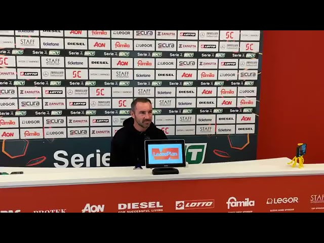 Conferenza stampa di mister Brocchi, alla vigilia della gara di campionato contro la Reggina
