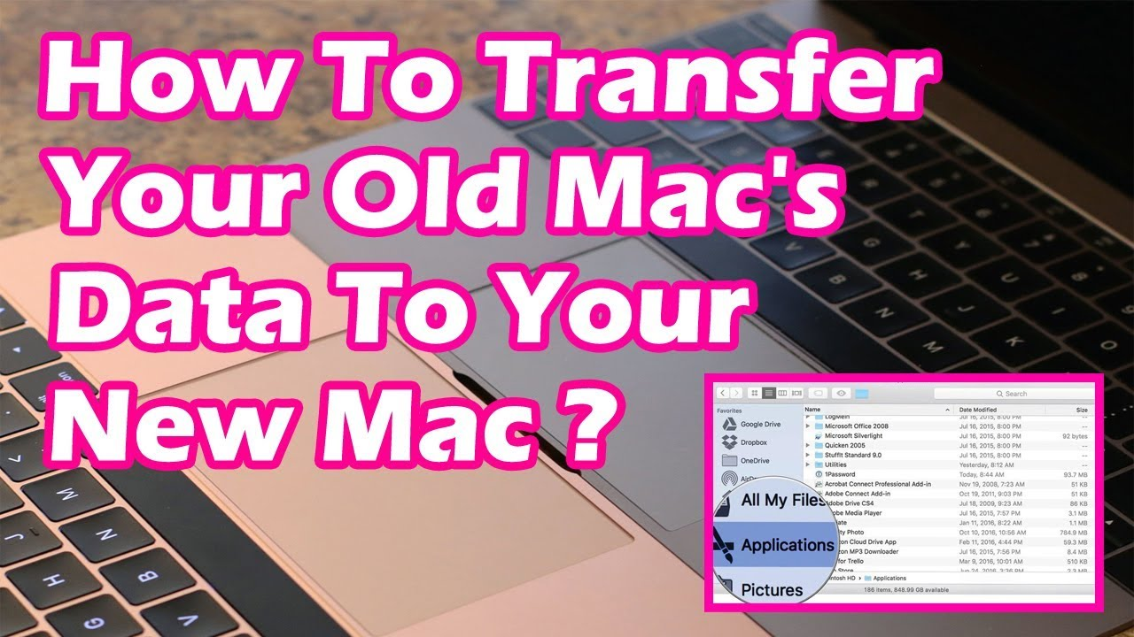 How To Transfer Your Old Macu0027s Data To Your New Mac ? | How To Move Your  Content To A New Mac ?