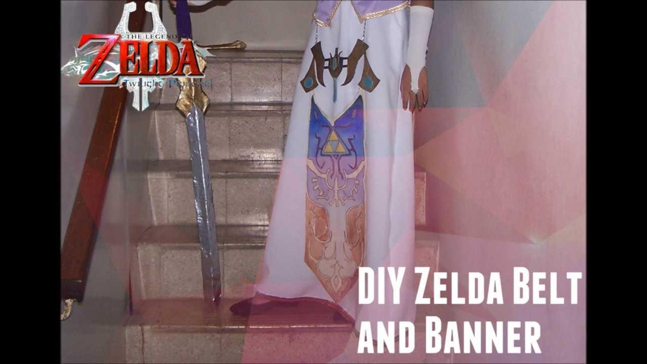 Diy Twilight Princess Zelda Cosplay Belt And Banner Tutorial And
