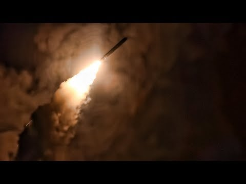 U.S. Navy Launches Cruise Missiles At Syria April 13, 2018