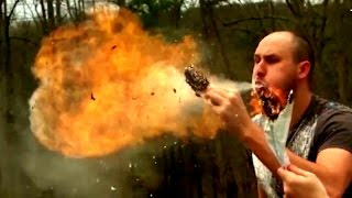 Fire Breath in Super Slow Motion That Will Blow Your Mind! | Slow Mo Lab