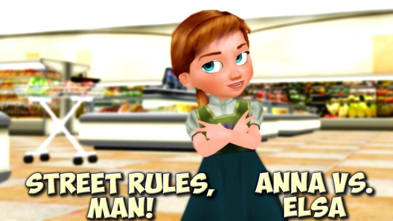 Little anna and little elsa kids funny meme animation disney youtube