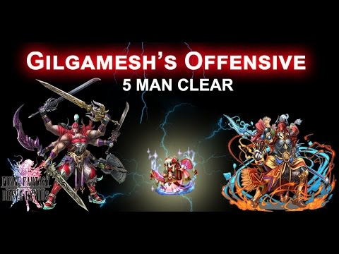 [FFBE] ACCIDENTAL 5 Person Clear  GILGAMESH OFFENSIVE CHEESED!!!! Sorta..