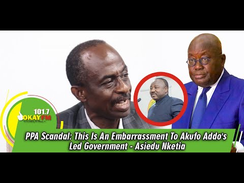 PPA Scandal: This Is An Embarrassment To Akufo Addo's Led Government - Asiedu Nketia