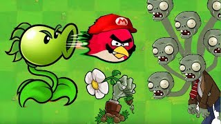 Angry Birds vs Zombies War - ONE PEASHOOTER BEAT ALL ZOMBIES