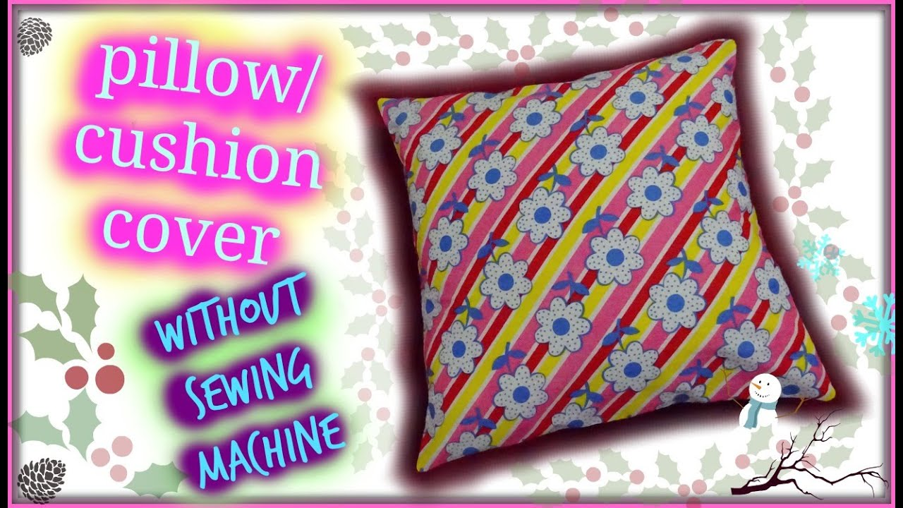 How To Make A Throw Pillow Without Sewing : How to make envelope pillow cover without sewing machine - YouTube