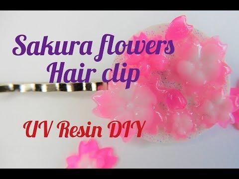 UV Resin DIY Sakura Hair Clip