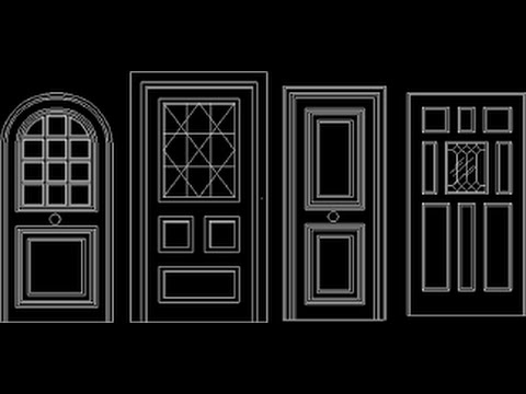 Autocad how drawing the window in autocad 2016 youtube for Door design autocad