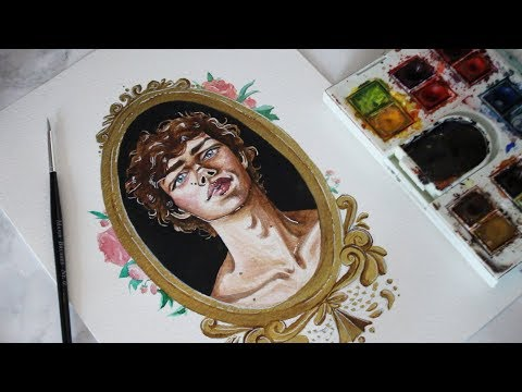 finding my art style // watercolour real time process