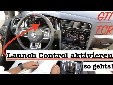vw golf 7 gti tcr launch control aktivieren so gehts youtube