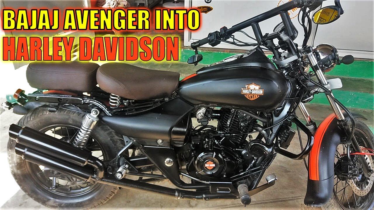 Bajaj Avenger Modified To Harley Davidson In India - YouTube  Bajaj Avenger M...