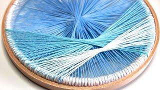 Embroidery Hoop Craft: Thread Art Wall Decor