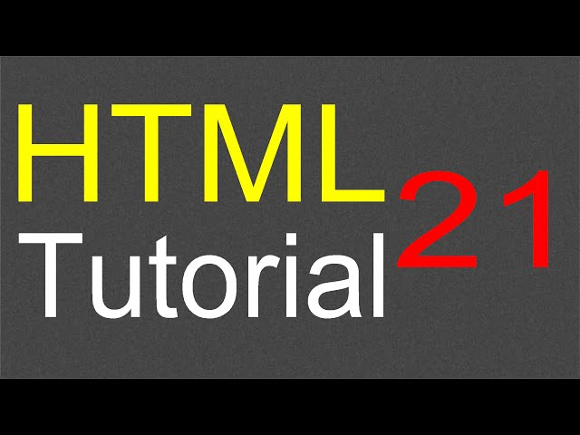 HTML Tutorial for Beginners - 21 - Escape characters