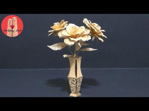 DIY Tutorial fiori in metallo -Gold metal flawers