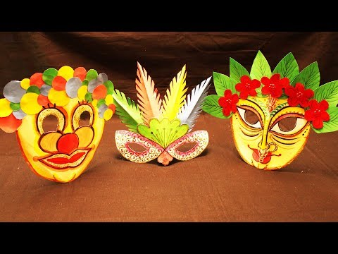 How  to make paper masks for party for kids || paper Arts and Crafts ||#mycreativehub