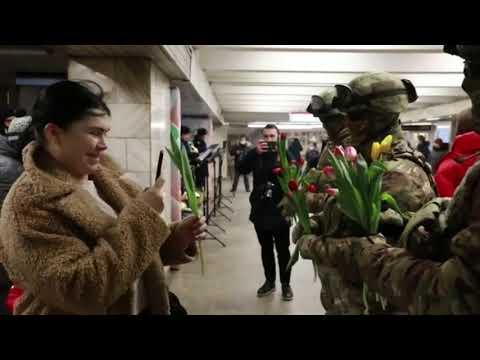 Russian army marks International Women's Day