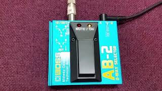 Boss ab2- Guitar mute switch Demo