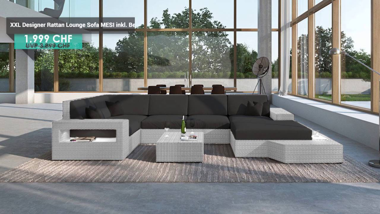 Rattan Lounge Xxl. Cheap Grosse Gartenmbel Rattan Xxl Lounge With ...