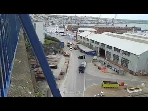Royal Navy Ship in Falmouth Docks Cornwall England UK