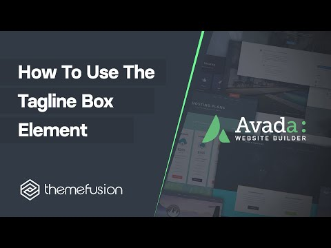 How To Use The Tagline Box Element Video