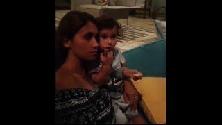 Lionel Messi y Antonella Roccuzzo en su luna de miel en Antigua y Barbuda con sus hijos (04-07-17)