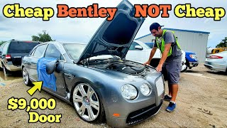 A Cheap Wrecked Bentley TWIN TURBO Showed Up at the Auction! Here's how EXPENSIVE It Is to Repair...