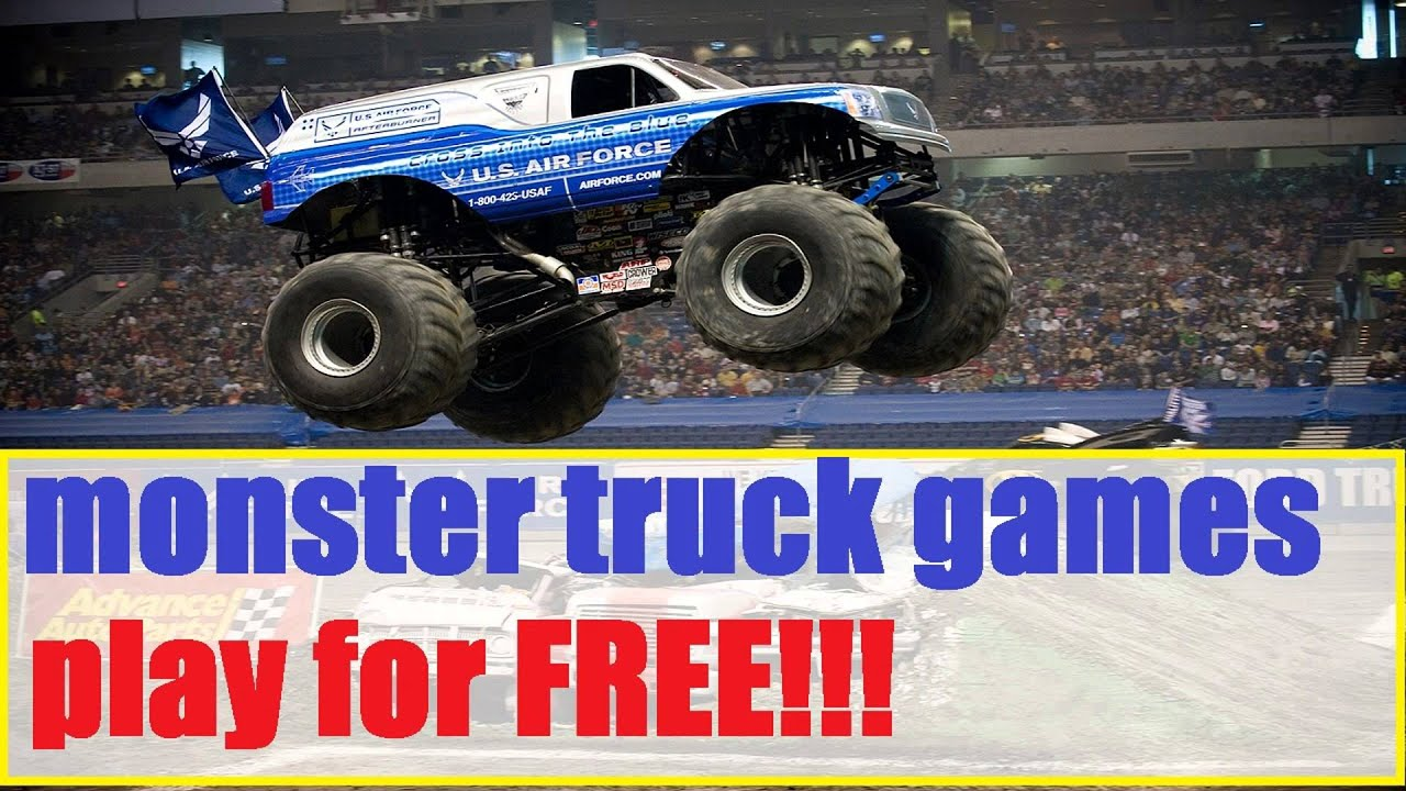 monster truck games for toddlers free online