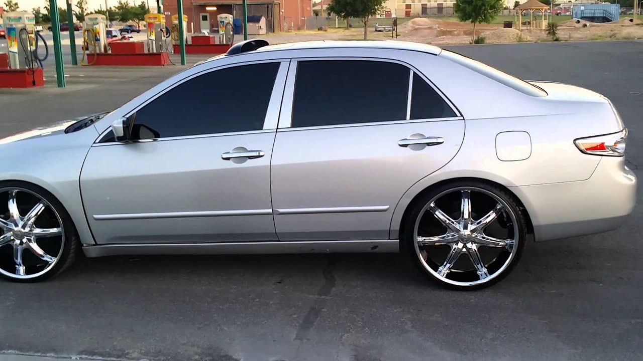honda accord slammed on 22 inch rims doovi. Black Bedroom Furniture Sets. Home Design Ideas